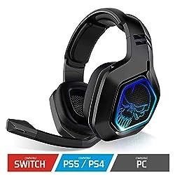 XPERT H900 WIRELESS: Le casque audio sans fil XPERT H900 est le casque parfait pour jouer sur PS5, PS4, SWITCH, PC. Son Dongle USB RF 2.4GHz vous permettra de profiter jusqu'à 8 mètres de distance en sans fil. Vous ne serez plus encombré par un câble...