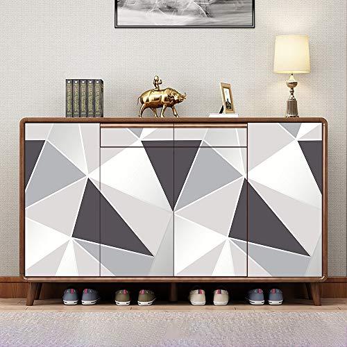 Hode Möbelfolie Selbstklebend Klebefolie Möbel Tapete Graue Geometrie 45cmx2m Küche PVC Wasserdicht Wand Vinyl Folie Schlafzimmer