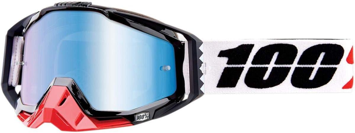 100 Racecraft Schwarz Erwachsene Marigot Brilles W Blau Spiegel Linse Auto