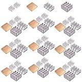 Easycargo 50pcs Raspberry Pi 4 Heatsink Kit Aluminum + Copper + 3M 8810 Thermal Conductive Adhesive Tape for Cooling Cooler Raspberry Pi 4, 3 B+, Pi 3 B, Pi 2, Pi Model B+ (50pcs)