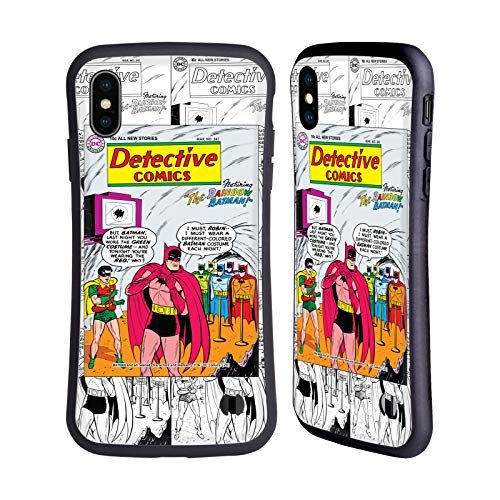 Head Case Designs Oficial Batman DC Comics Arco Iris Disfraces icónicos Carcasa híbrida Compatible con Apple iPhone XS MAX