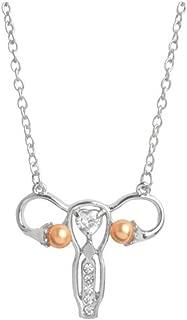 AILUOR Uterus Ovary Pendant Necklace, Feminist Medical Symbol Female Organ Gynecologist Nurse Gift Jewelry