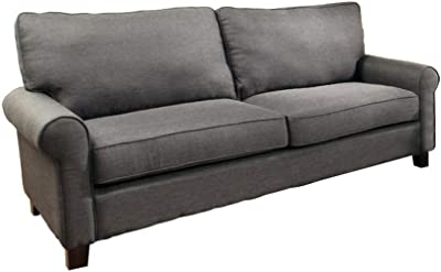 Amazon.com: Simple Relax Samuel Charcoal Sofa: Kitchen & Dining