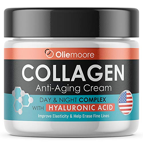 51aTq0 GmmL - Collagen Face Cream for Women - Anti Wrinkle Cream for Face with Hyaluronic Acid & Vitamin C - Day & Night Cream for Women Anti Aging Face Moisturizer