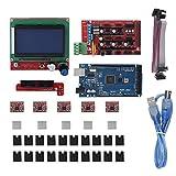 3Dプリンターコントローラーボード、3DプリンターマザーボードRAMPS 1.4シールド/回路ボード/ステッピングモーター/Arduino RepR用LCD