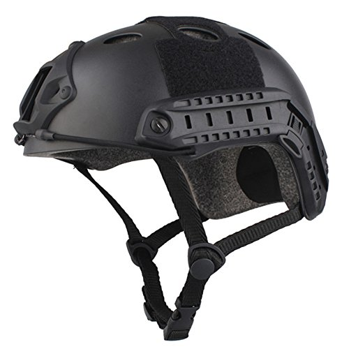 emersongear PJ Type Fast Helmet Tactical Protective Helmet for Airsoft Paintball Hunting Cycling Motorcycle Black