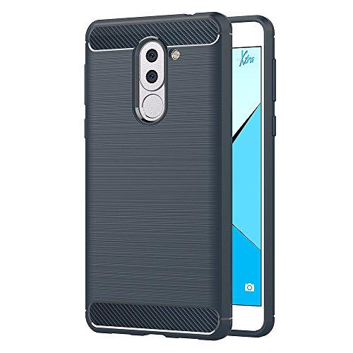 AICEK Cover Honor 6X, Blu Custodia Huawei Honor 6X Silicone Molle Blue Cover per Honor 6X Soft TPU Case (5.5 Pollici)