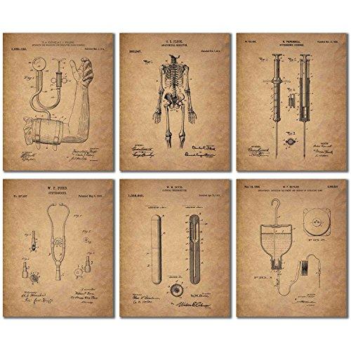 Doctor - Nurse Patent Wall Art Prints - Set of 6 Vintage Medical Photos