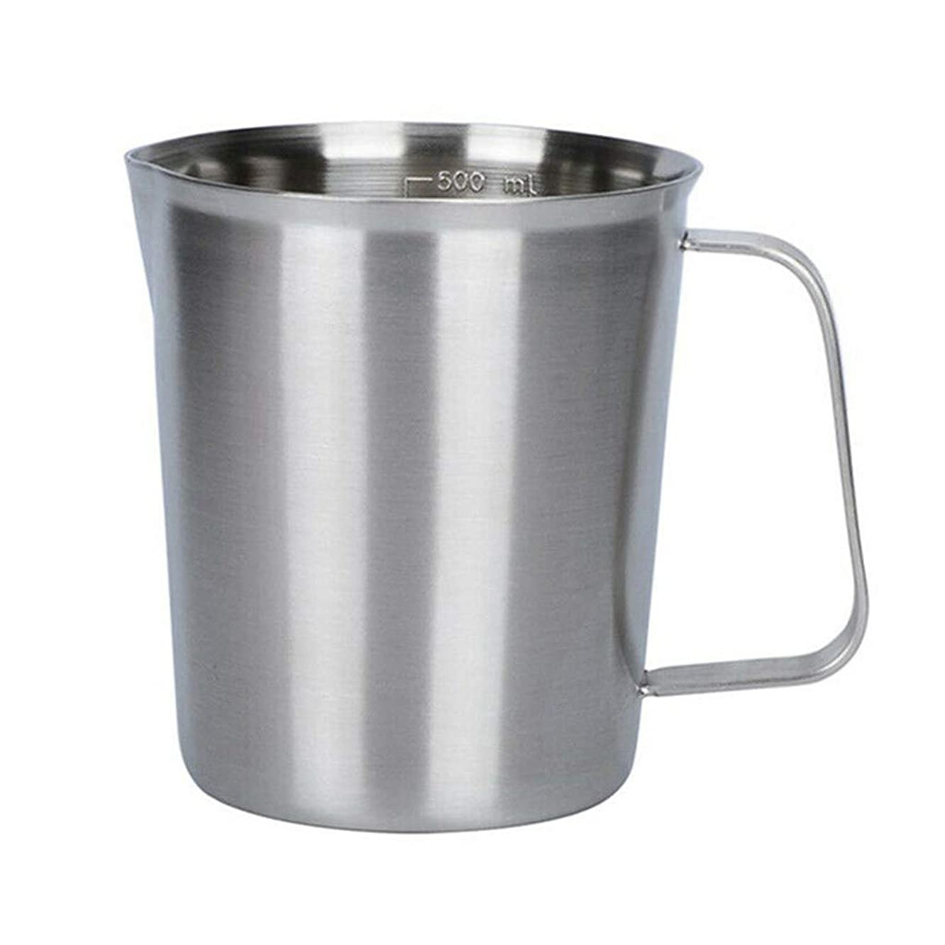 ?? Orcbee ?? _Measurement 304 Stainless Steel Milk Frothing Pitcher Cup for Latte Coffee Art
