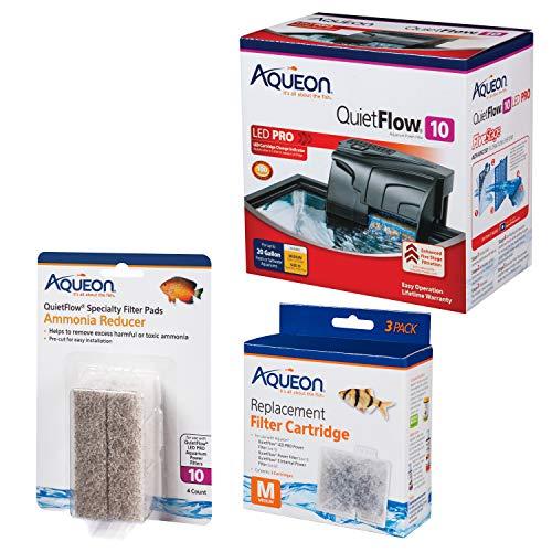 Aqueon Quietflow Internal Aquarium Filter Kit with Media