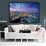 London Nordic Skandinavische Stadt Landschaft Ölgemälde Poster und Leinwand Wohnzimmer Wandbild rahmenlose Malerei 20x30cm