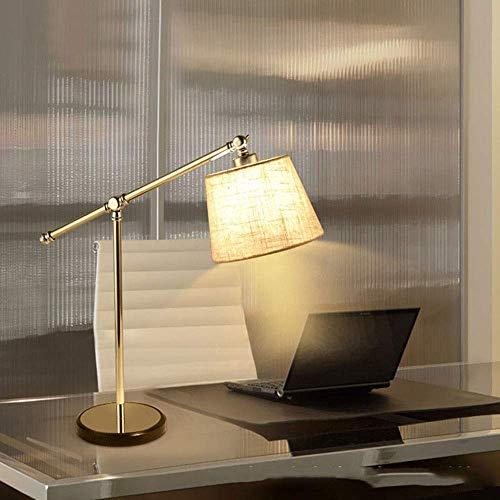 Lámpara de mesa Lámparas de Nightstand Nordic simple paño de lino pantalla realizada de lámpara de mesa de acero inoxidable de la lámpara de cabecera de la lámpara de iluminación La iluminación de la