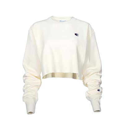 Champion LIFE Reverse Weave(r) Cropped Cut Off Crew (Chalk White) Women