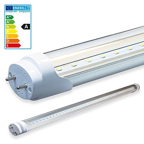 LEDVero 1x SMD LED Röhre/Tube Leuchtstoffröhre T8 G13 transparent Abdeckung - 90 cm, 14 W, 1400lm- montagefertig, Lichtfarbe:Warmweiß