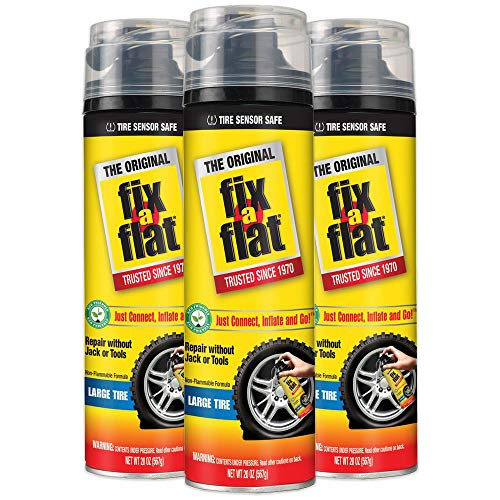 Fix-A-Flat S430, Aerosol Tire Inflator with Hose for Large Tires, 20 ounces (3-Pack)