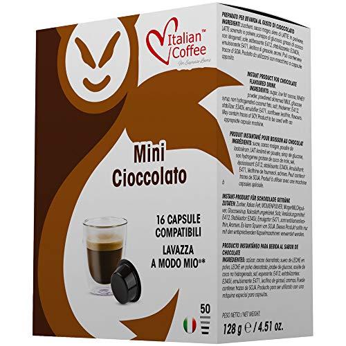96 Capsule di caffè Italian Coffee compatibili Lavazza A Modo Mio®* (Mini Cioccolato)