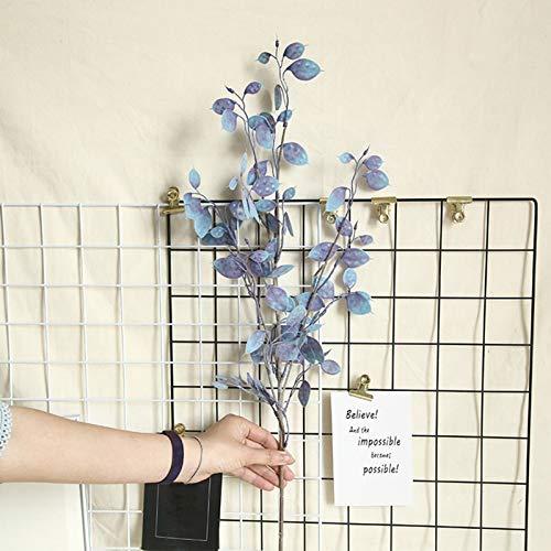 Oce180anYLVUK Artificial Leaf 1Pc Artificial Leaf Twig Branch Garden Wedding Party Arreglo Floral Decoración Azul púrpura