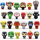 JianYia Super Hero Cake Decorations, Home Decoration. Titan Hero Sculpture Worth Collecting (24 Pieces)
