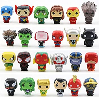 JianYia Super Hero Cake Decorations Home Decoration Titan Hero Sculpture Worth Collecting  24 Pieces