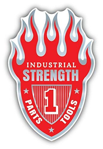 Industrial Strength Flame Emblem Vinyl Decal Bumper Sticker/Pegatina