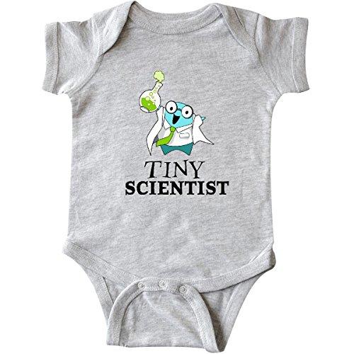 inktastic Tiny Scientist Cute Chemist Infant Creeper 6 Months Heather Grey