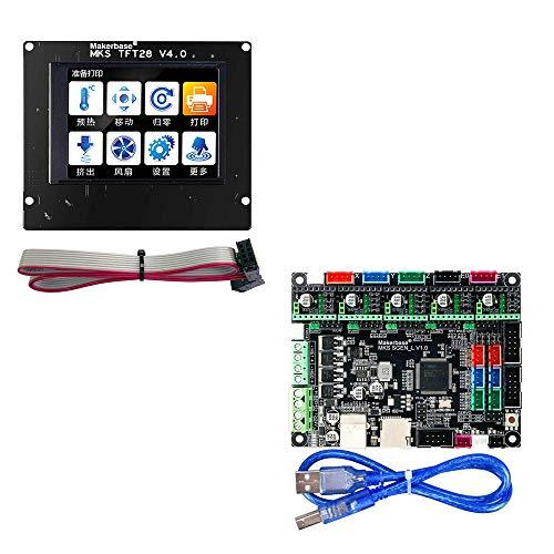 BZ 3D MKS SGen L V1.0 32bit Controller Board Uart/SPI Compatible with Marlin2.0 Smoothieware + MKS TFT28 V4.0 Support TFT24/32/35 (Board+MKS TFT28)