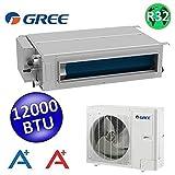 Climatizzatore mono canalizzato Gree R32 12000 Btu A++ A+ media prevalenza - comando a parete incluso