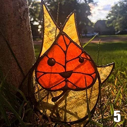 Korok, Garden Decorations Outdoor, Unique Artistic Ornaments, Easter Decorations, Garden Sculptures & Statues, Korogu Family Garden Craft Decoration (red green combination) (5)