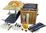 Best Picnic Baskets - Picnic Basket for 4 Removable Bamboo Table Cotton Review