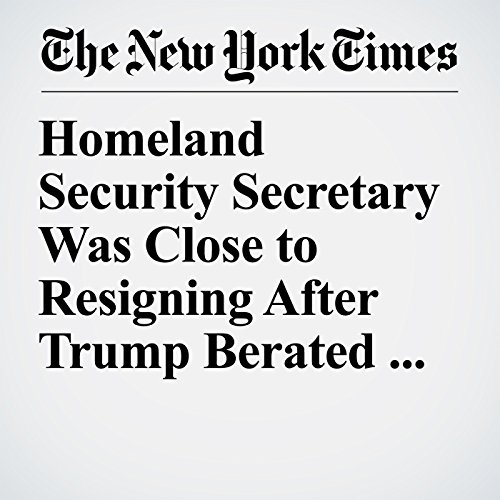 Homeland Security Secretary Was Close to Resigning After Trump Berated Her copertina