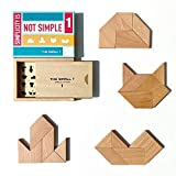 Tangram Puzzle for Adults -Teens - Kids Age 7 and up I Deluxe Japanese Crayon Puzzle Box Design IWooden Brain Teasers, Mind Bending Puzzles - Level 1 - Difficulty: 6.5/10