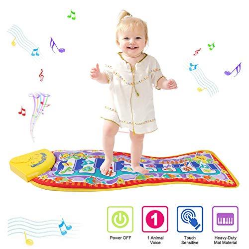 PROACC Tapete para Piano, Juguete con tapete para niños, tapete de Baile para niños de 3 a 36 Meses de Regalo para bebés y niños pequeños (Forma de pez) (Forma de pez)