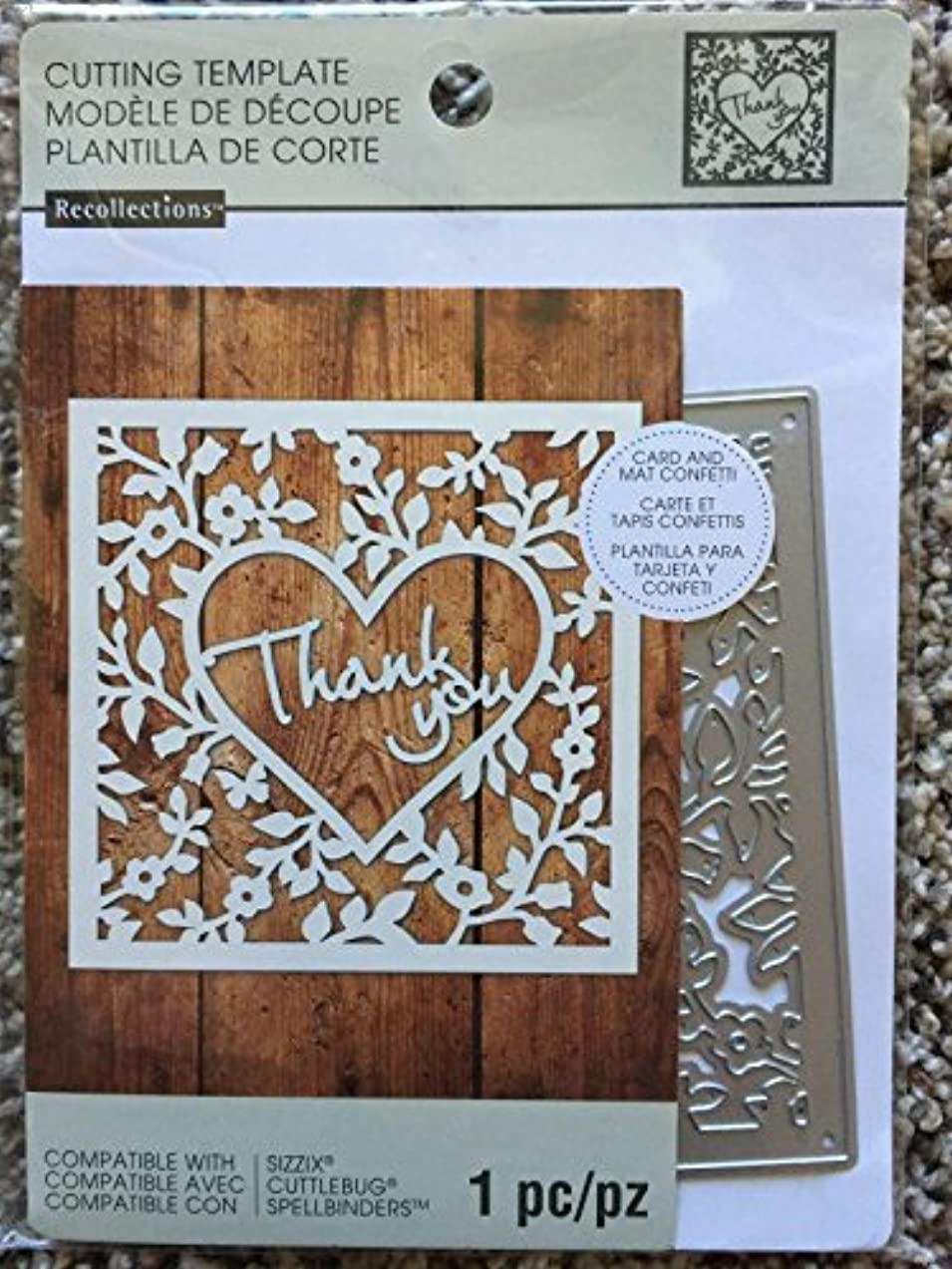 Recollections Cutting Die Template 542692 Thank You (1 Cutting Dies)