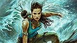 ZPDWT Puzzles 1000 Piezas-Póster del Juego Tomb Raider-Rompecabezas De Madera para Niños para Adultos Desarrollar La Paciencia Enfoque Reducir La Presión DIY Gift-75 * 50Cm
