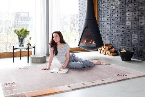 Luxor Living Nepal Teppich handgeknüpft Mauve Größe auswählen 250 x 350 cm