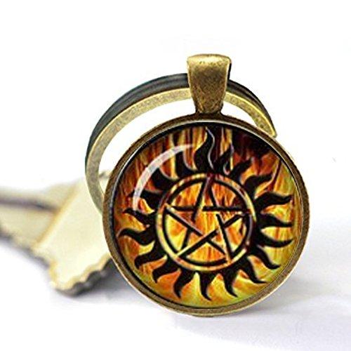 Winchester Anti Demon Tattoo Supernatural Keychain Supernatural