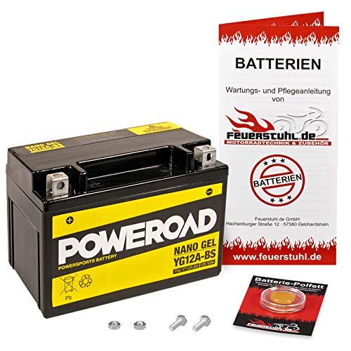 Gel-Batterie für Suzuki SV 650 /S, 1999-2002 (AV) wartungsfrei, einbaufertig, startklar, inkl. 7,50€ Pfand