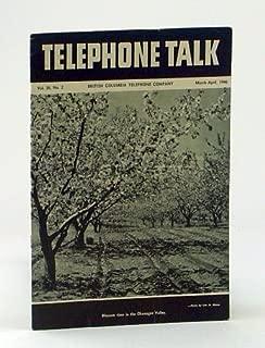 Telephone Talk, March - April 1946: Magazine of the British Columbia Telephone Company (B.C. Tel.) - Operator Miss Edith Jackson of Fairmont