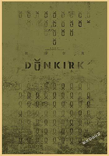 H/E Cartel De Arte Retro De Película De Guerra Histórica Dunkerque Decoración De Bar para El Hogar Mural Sin Marco 50X70Cm G4769