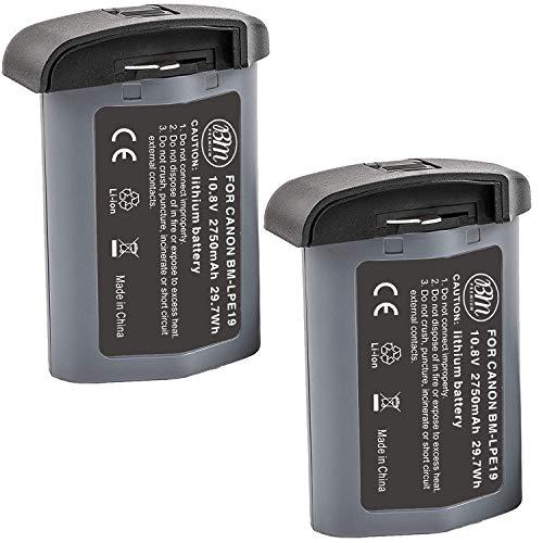 BM Premium 2 Pack of LP-E19 High Capacity Batteries for High Capacity LP-E19 Battery for Canon EOS 1D X Mark III, EOS 1D X Mark II, EOS 1DX, EOS 1Ds III, EOS 1D IV, EOS 1D III Cameras