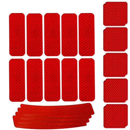 WENTS Adhesivos Reflectantes 24PCS Pegatinas Reflectantes Pegatinas Reflectantes Kit Adhesivo Universal para...
