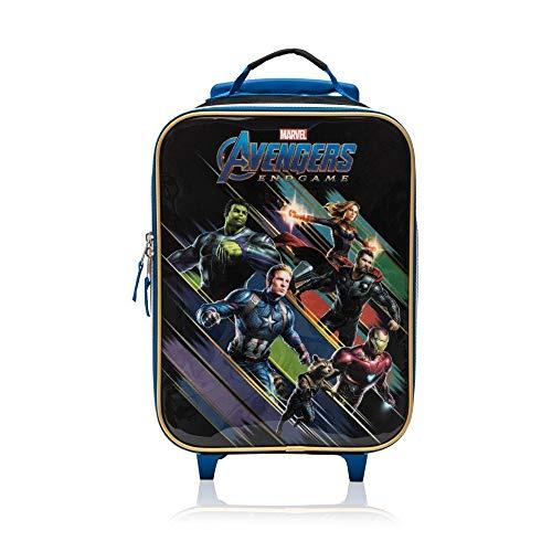 Marvel Avengers End Game Soft Side Trolley Luggage Case for Kids - 16 Inch [Black]