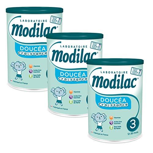 Laboratoire Modilac - Lait Infantile en Poudre Doucéa Croissance - 12-36 mois - 800g - Lot de 3
