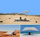 globolandia tenda da spiaggia tents globo sand 2.1m x 2.1m con ancoraggio a sabbia 95117g, parasole portatile tende con ancoraggio a sabbia tettuccio parasole