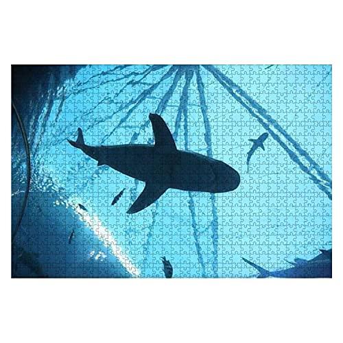 1000 Stück Resort World Sentosa Singapur 17 Jan 2017 Haie im SEA Aquarium Großes Puzzle für Erwachsene Lernspielzeug für Kinder Kreative Spiele Unterhaltung Holzpuzzles Home Decor