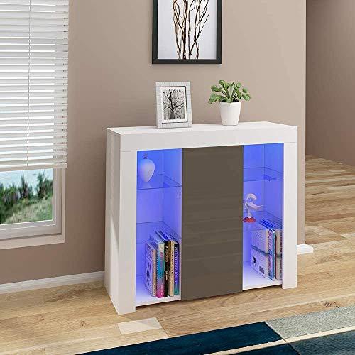 Aparador de alto brillo Frontal, gabinete de sala de estar de cocina para cocina, sala de estar,A