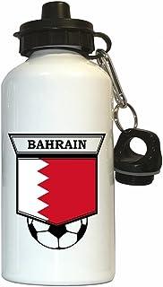 Bahrain Soccer Water Bottle White