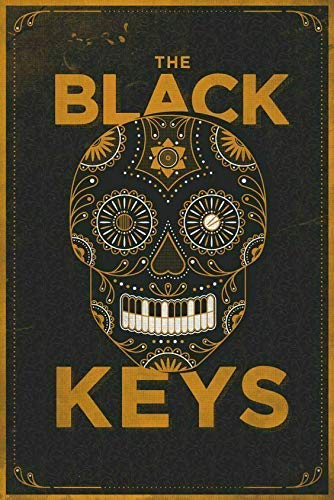Vintage Metal Tin Sign The Black Keys Music Band Poster Vintage Painting Tin Sign for Street Garage Home Cafe Bar Man Cave Farm Wall Decoration Crafts Metal Tin Sign 8x12 Inches