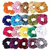 20 Stück Haargummis mädchen, 20 Farben Haar Band Damen Haarbänder Aus Samt Elastisches Pferdeschwanz Halter Krawatte Zubehör