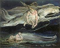 William Blake ジクレープリント キャンバス 印刷 複製画 絵画 ポスター(残念)